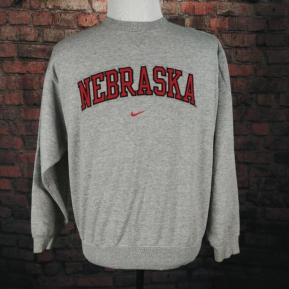 Es una suerte que Compositor participar  Nike Sweaters | Vintage Nike Nebraska Cornhuskers Crewneck Sweater |  Poshmark